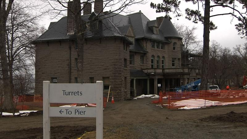Turrets renovations began in April 2013.