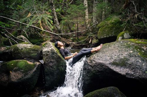"""Moe Myat ZarChi, of Yangon, Myanmar, enjoys her Outdoor Orientation Program at Baxter State Park. """"I'd never done camping before,"""" she said of her Outdoor Orientation Program trip to Baxter State Park. """"I had never hiked as steeply as the trail up Doubletop Mountain,"""" she said, """"never slided through a waterfall before. I never knew what s'mores were."""""""