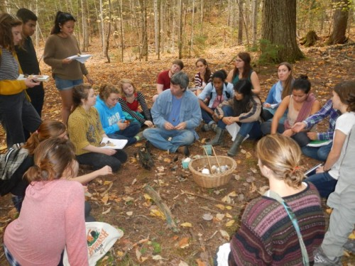 Marley talking to the Edible Botany class. Photo Courtesy: Amber Wolf '17