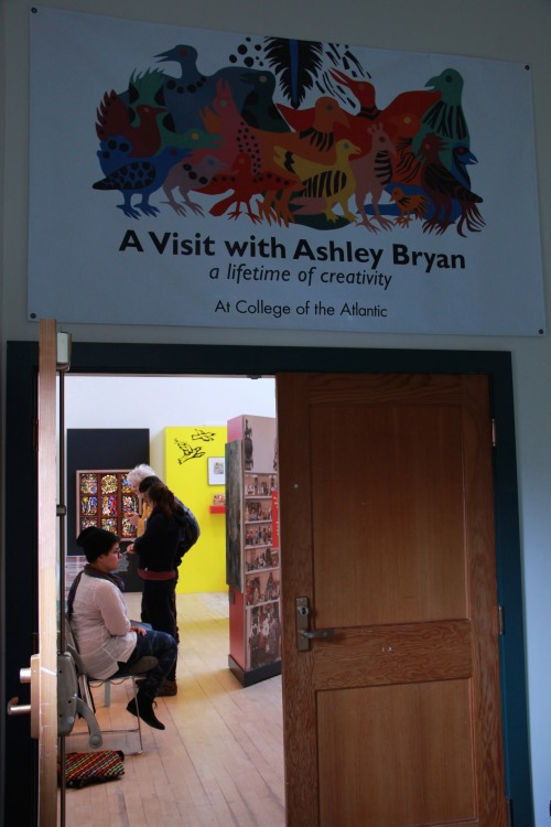"""A visit with Ashley Bryan"" exhibit is on display in the Ethel H. Blum Gallery at COA through February 2015. PHOTO/ Joanna Weaver"