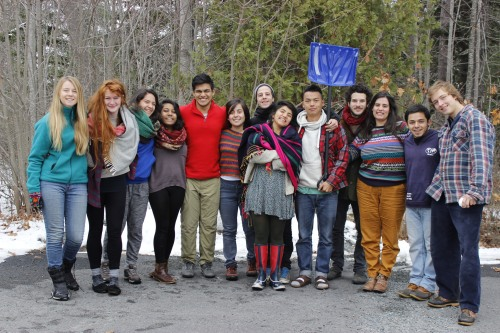 Members of Earth in Brackets — the student-run environmental group at College of the Atlantic — prepare to depart for Peru for a United Nations climate summit Dec. 1-12.